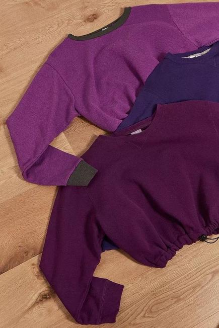 Urban Outfitters - Assorted Purple Urban Renewal Remade From Vintage Bungee Sweatshirt, Women