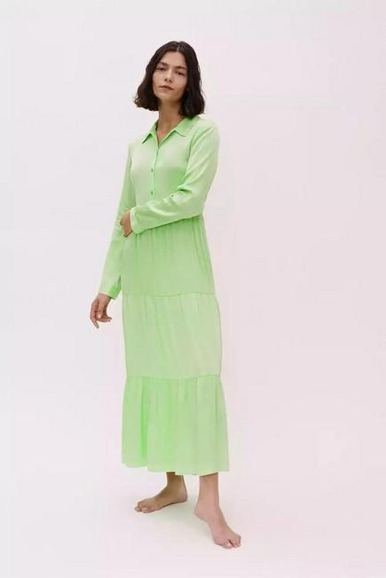 Urban Outfitters - Green BCC Dye UO Exclusive Midi Shirt Dress, Women
