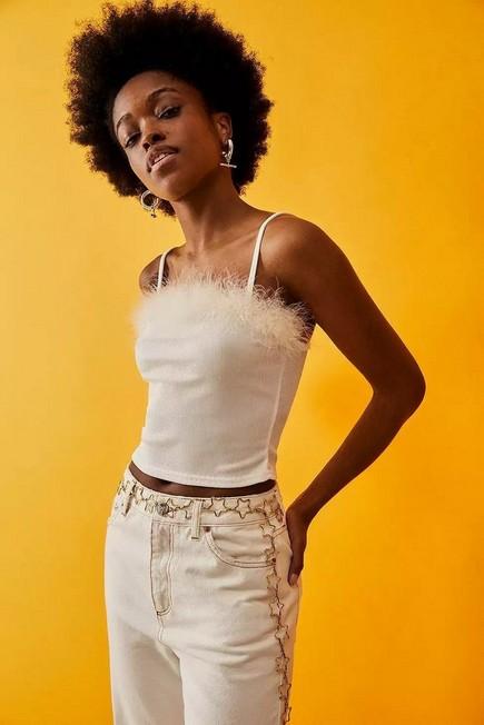 Urban Outfitters - Gold Star Chain Belt, Women