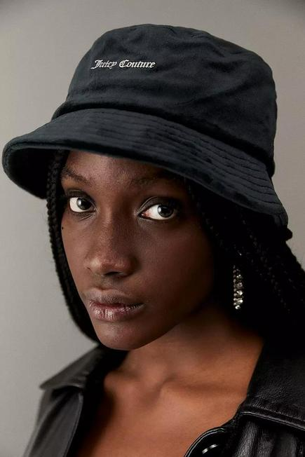 Urban Outfitters - Carbon Juicy Couture Velour Bucket Hat, Women