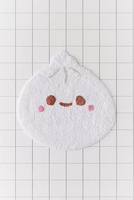 Urban Outfitters - White Smoko Dumpling Bath Mat