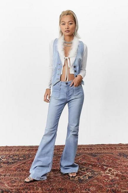 Urban Outfitters - Denim L Miss Sixty UO Exclusive Light Denim Flare Jeans, Women