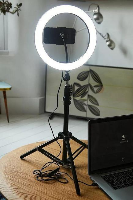Urban Outfitters - BLK YOUSTAR LED Ring Light & Phone Holder with Tripod