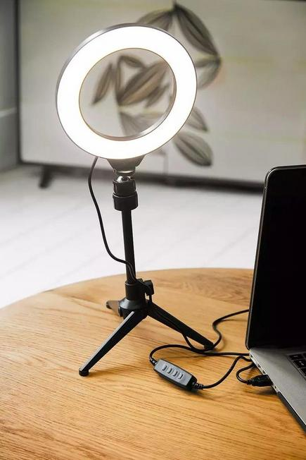 Urban Outfitters - BLK YOUSTAR LED Ring Light & Tripod