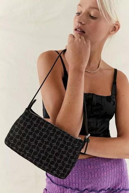 Urban Outfitters - Black iets frans... Monogram Shoulder Bag, Women