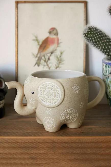 Urban Outfitters - NATURAL Natural Elephant Mug