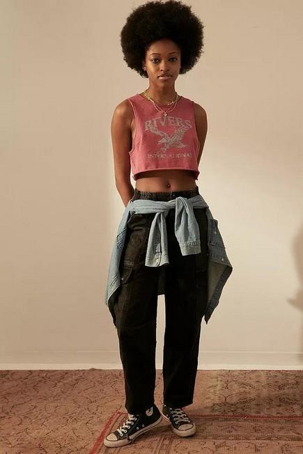 Urban Outfitters - Black BDG Blaine Colour Block Skate Jeans, Women