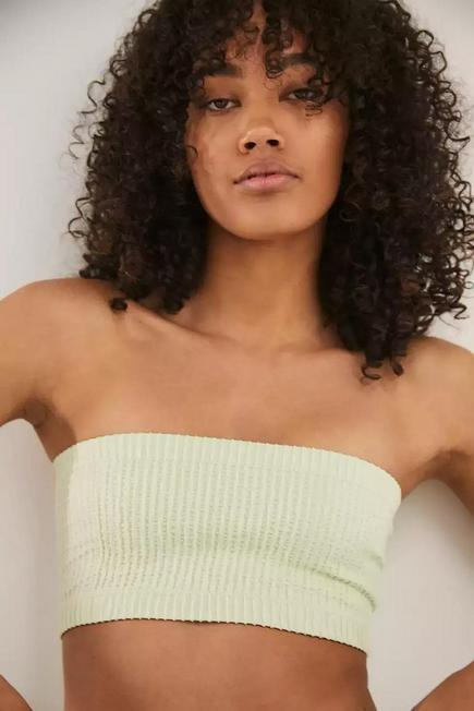 Urban Outfitters - Lt Green Out From Under Seamless Bandeau Bikini Top, Women