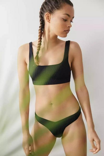 Urban Outfitters - Black Out From Under Sunny Seamless V Bikini Bottoms, Women
