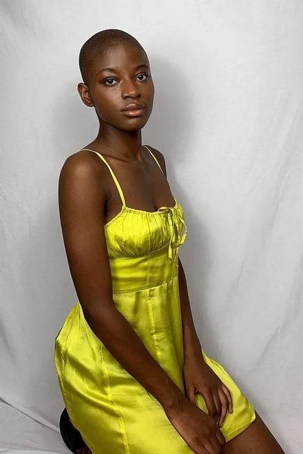 Urban Outfitters - Green UO Kamaryn Satin Slip Mini Dress, Women