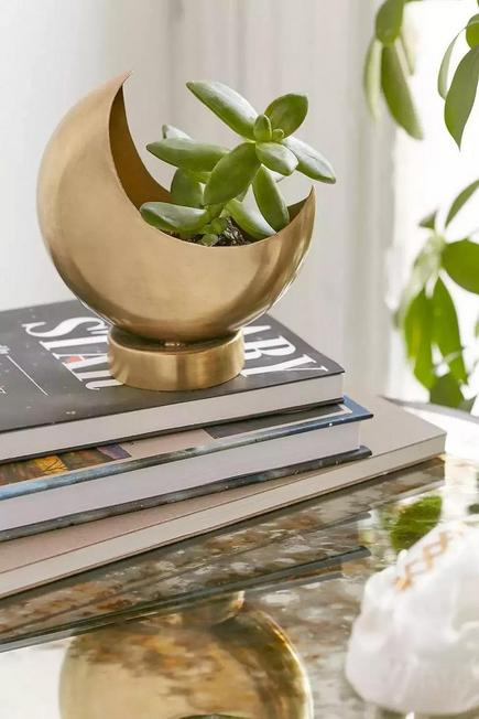 Urban Outfitters - Gold Moon Plant Pot