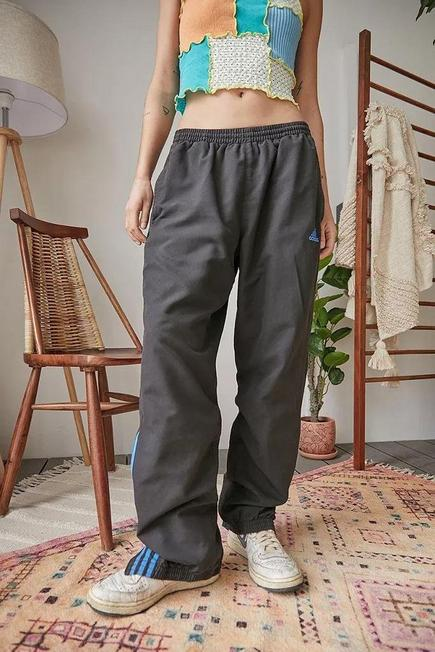 Urban Outfitters - Black Urban Renewal Vintage Track Pants, Men