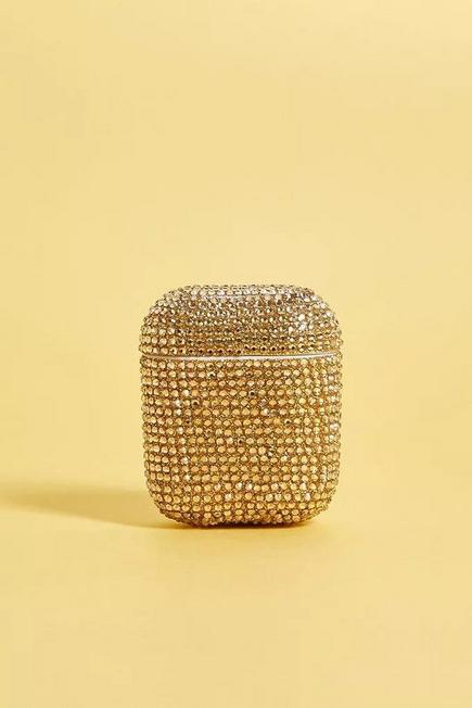Urban Outfitters - Gold-Tone Diamante Airpods Case