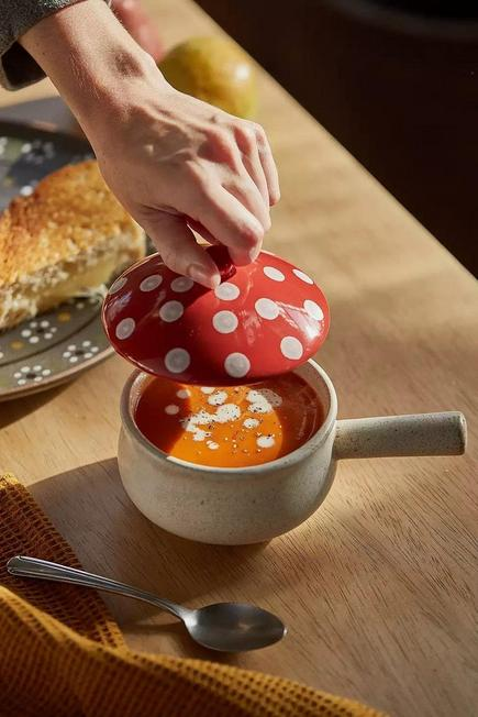 Urban Outfitters - Mushroom Lidded Soup Bowl