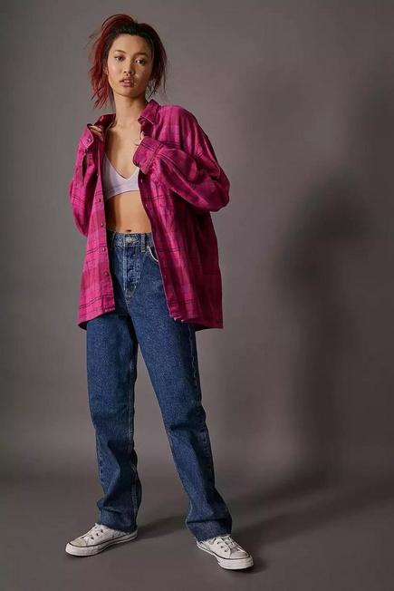 Urban Outfitters - Denim BDG Indigo Pax Straight Leg Jeans, Women