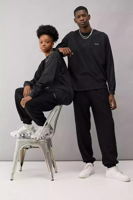 Urban Outfitters - Black iets frans... Joggers, Men
