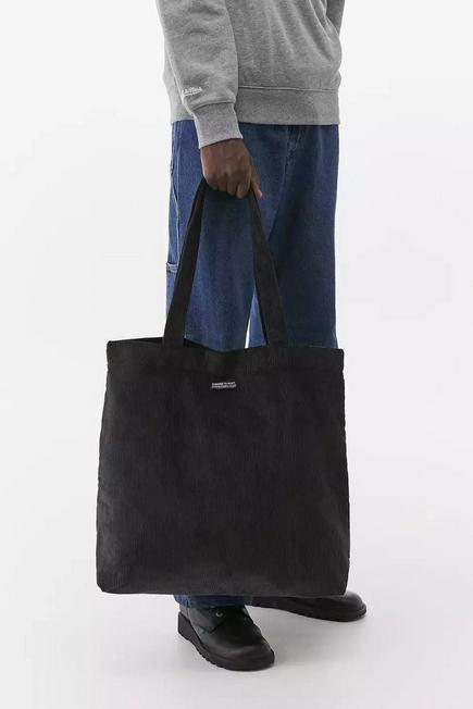 Urban Outfitters - Grey UO Gunmetal Corduroy Tote Bag, Men