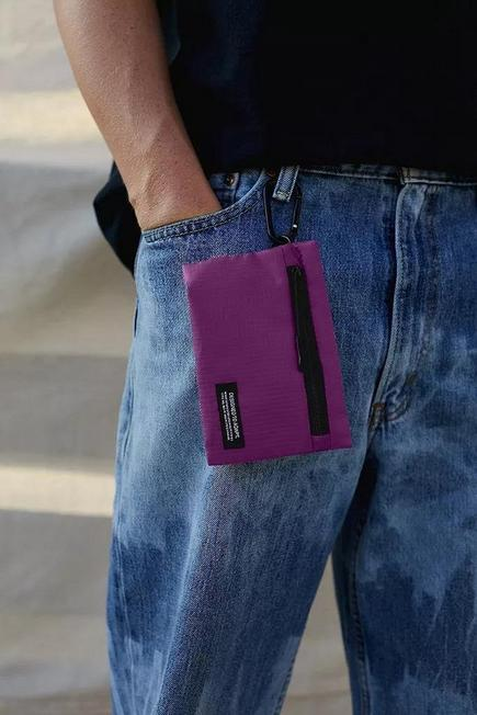 Urban Outfitters - Purple UO Mesh Clip Pouch, Men