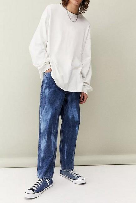 Urban Outfitters - Blue BDG Tie-Dye Bow Jeans, Men