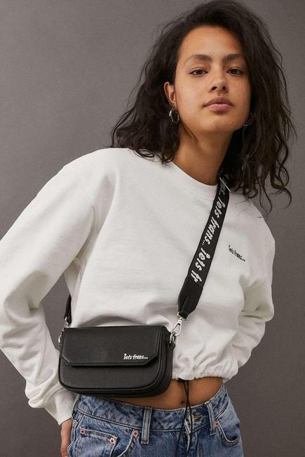 Urban Outfitters - Black iets frans... Pu Crossbody Bag, Women