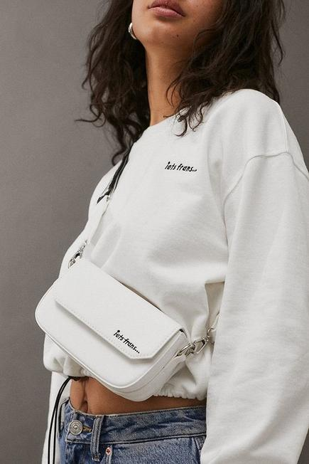 Urban Outfitters - White iets frans... Pu Crossbody Bag, Women
