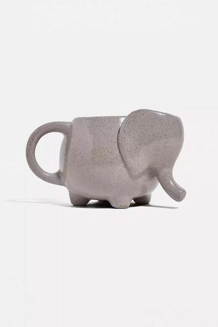 Urban Outfitters - Grey Ceramic Elephant Mug