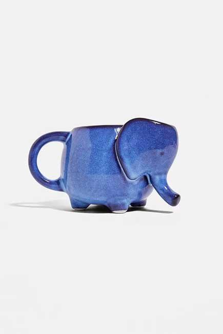 Urban Outfitters - Blue Ceramic Elephant Mug