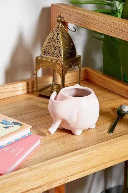 Urban Outfitters - PINK Ceramic Elephant Mug