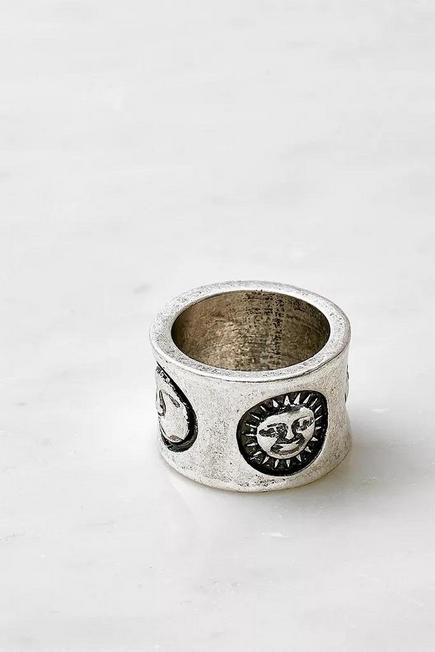 Urban Outfitters - Silver-Tone Celestial Ring, Women