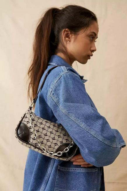 Urban Outfitters - Brown iets frans... Monogram Chain Shoulder Bag, Women