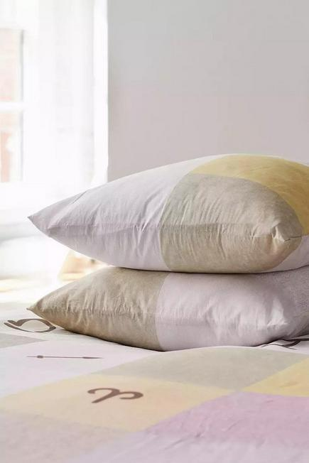 Urban Outfitters - Zodiac Patchwork Duvet Cover Set With Reusable Fabric Bag