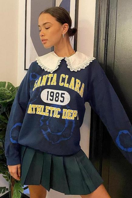 Urban Outfitters - Blue UO Santa Clara Tie-Dye Sweatshirt, Women
