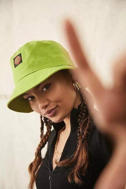Urban Outfitters - Green Santa Cruz Classic Dot Bucket Hat, Women