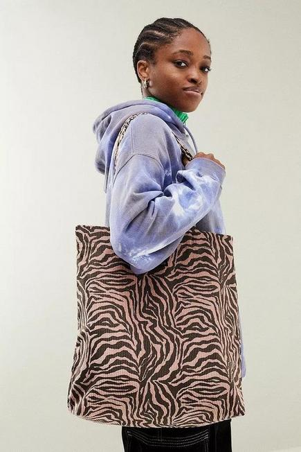 Urban Outfitters - PINK UO Corduroy Animal Print Tote Bag