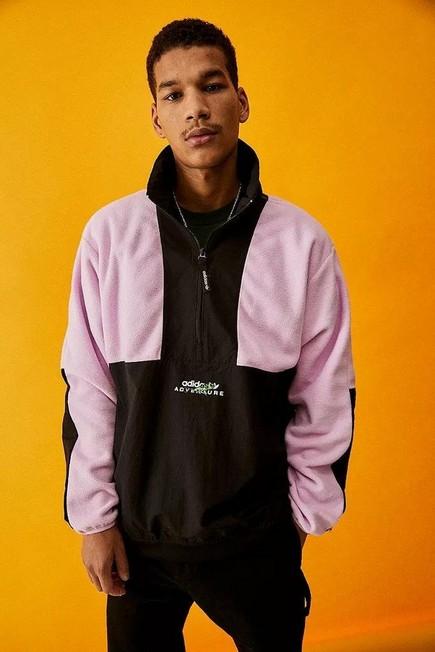 Urban Outfitters - Black Adidas Adventure Field Half-Zip Sweatshirt, Men