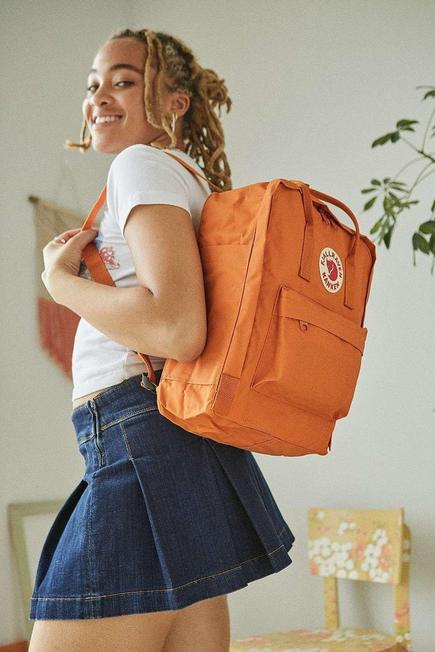 Urban Outfitters - Orange Fjallraven Kanken Spicy Backpack, Women