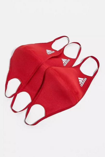 Urban Outfitters - Red Adidas Face Masks 3-Pack, Men