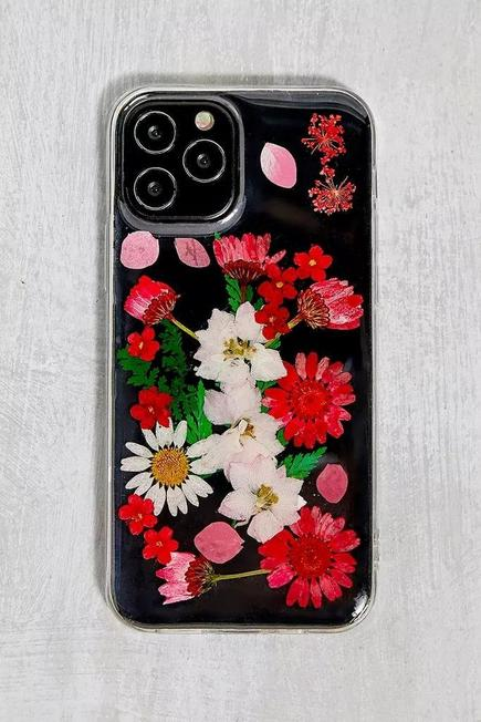 Urban Outfitters - RED Red Pressed Flowers iPhone 12/12 Pro Case