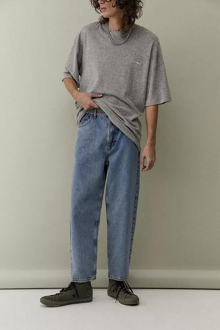 Urban Outfitters - Blue BDG Light Wash Bow Jeans, Men