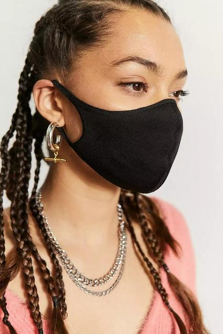 Urban Outfitters - Black Adidas Face Mask 3-Pack, Women