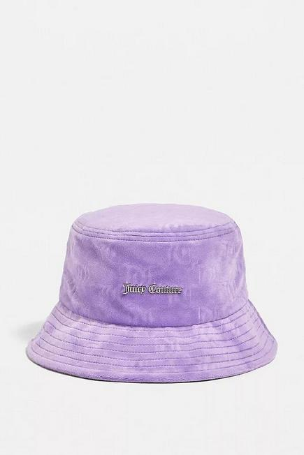 Urban Outfitters - Lilac Juicy Couture Velour Bucket Hat, Women