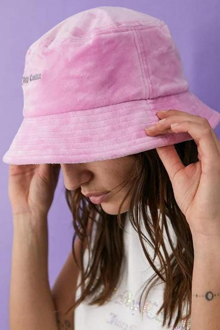 Urban Outfitters - Pink Juicy Couture Velour Bucket Hat, Women