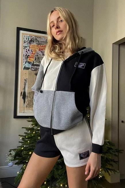 Urban Outfitters - Black Santa Cruz UO Exclusive Panelled Shorts, Women