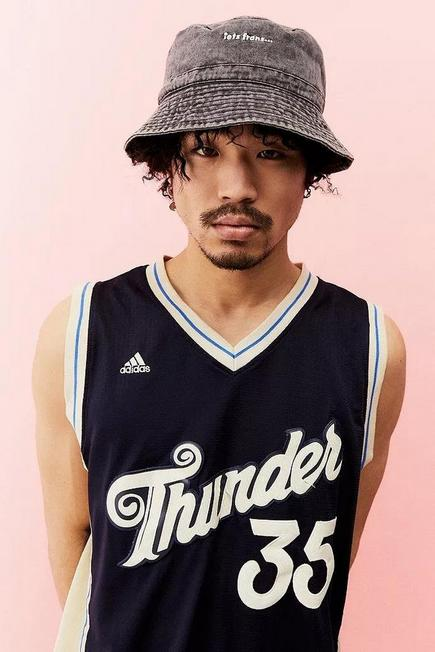 Urban Outfitters - Black iets frans... Washed Bucket Hat, Men