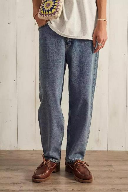 Urban Outfitters - Blue BDG Organic Light Wash Bow Jeans, Men