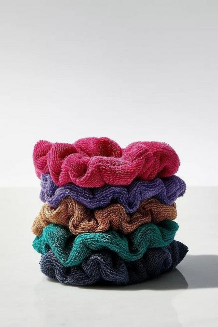 Urban Outfitters - Assorted Towelling Scrunchie 5-Pack, Women