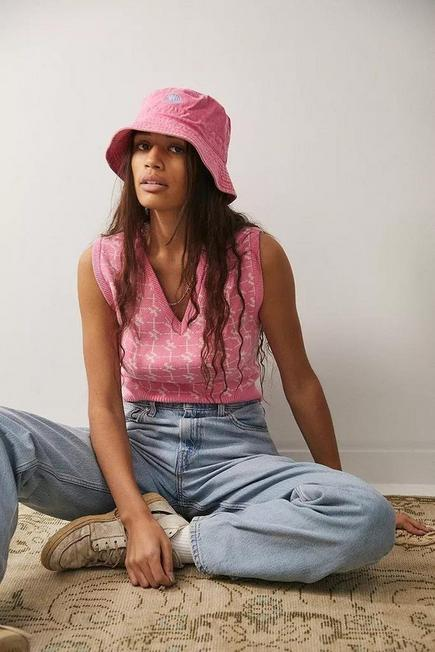 Urban Outfitters - Pink UO Washed Canvas Bucket Hat, Women