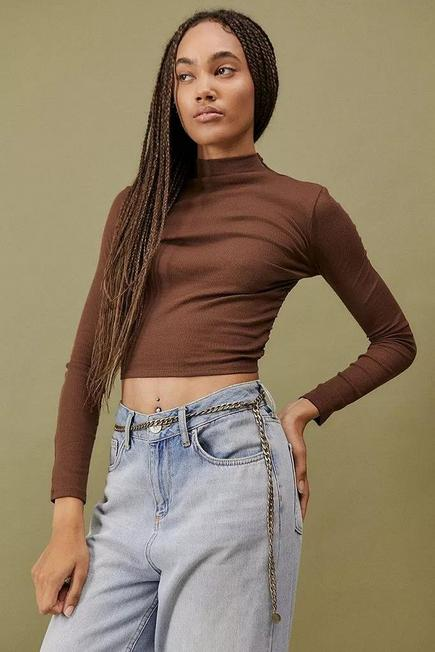 Urban Outfitters - Gold UO Chunky Metal Chain Belt, Women