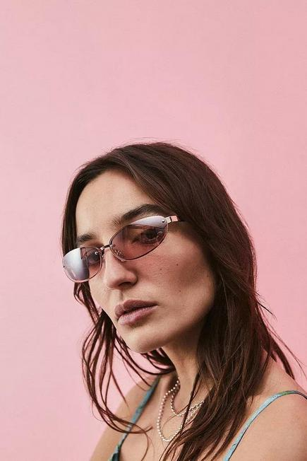 Urban Outfitters - PINK UO Rimless Oval Sunglasses
