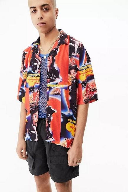 Urban Outfitters - Assorted Orange UO A Clockwork Revere Shirt, Men
